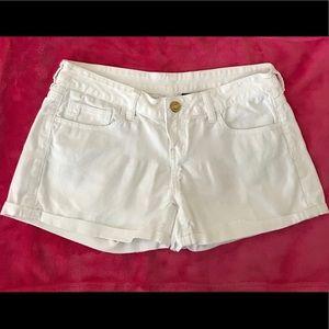Buffalo Jean Shorts Size 28 White Cuffed Hems